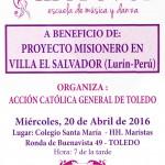 Actividad de música y danza. Proyecto en Villa el Salvador