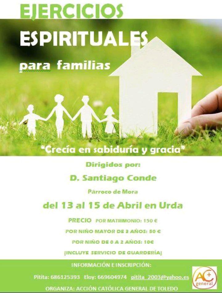 Ejercicios Espirituales para familias Urda