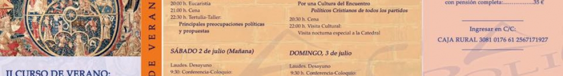 """II CURSO DE VERANO """"RENOVAR LA POLÍTICA"""""""