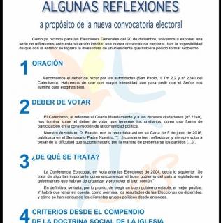 REFLEXIONES ANTE LA NUEVA CONVOCATORIA ELECTORAL